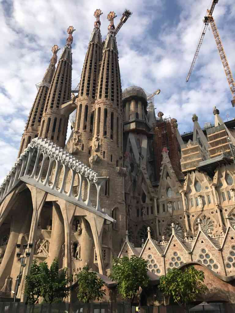 Gaudi's Sagrada Familia Cathedral in Barcelona