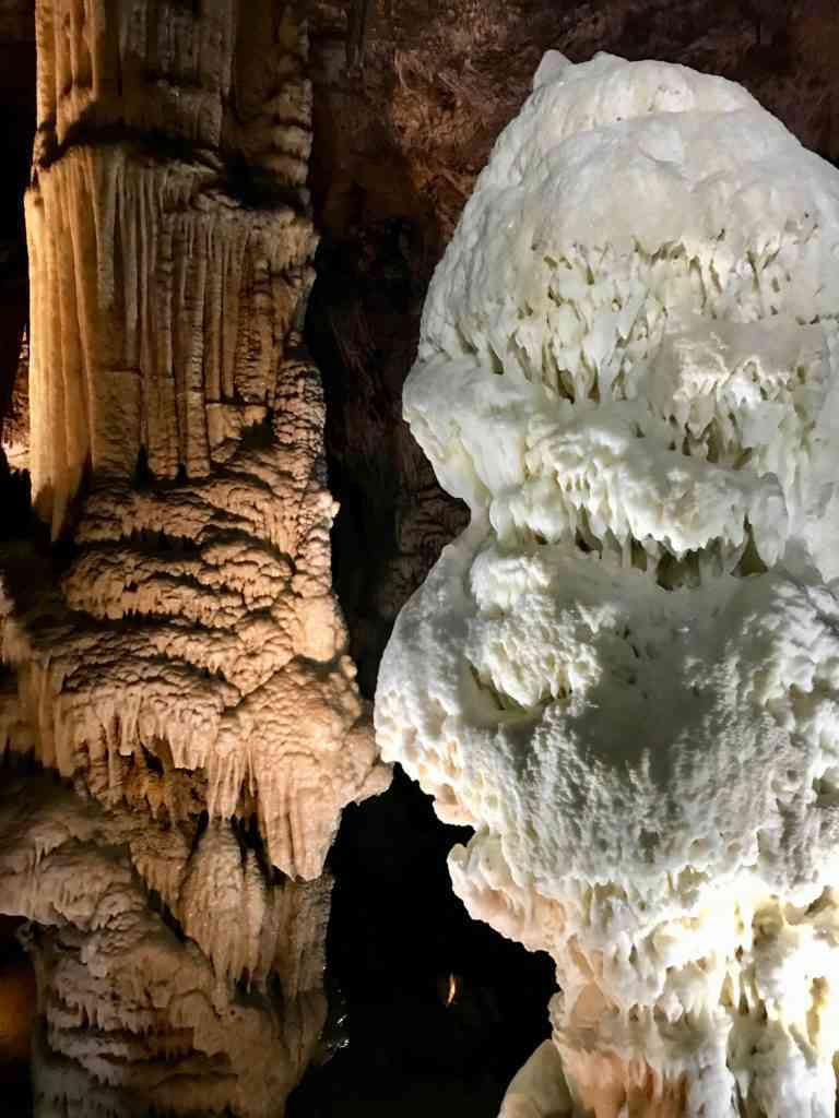 Beautiful formations in Postojna caves