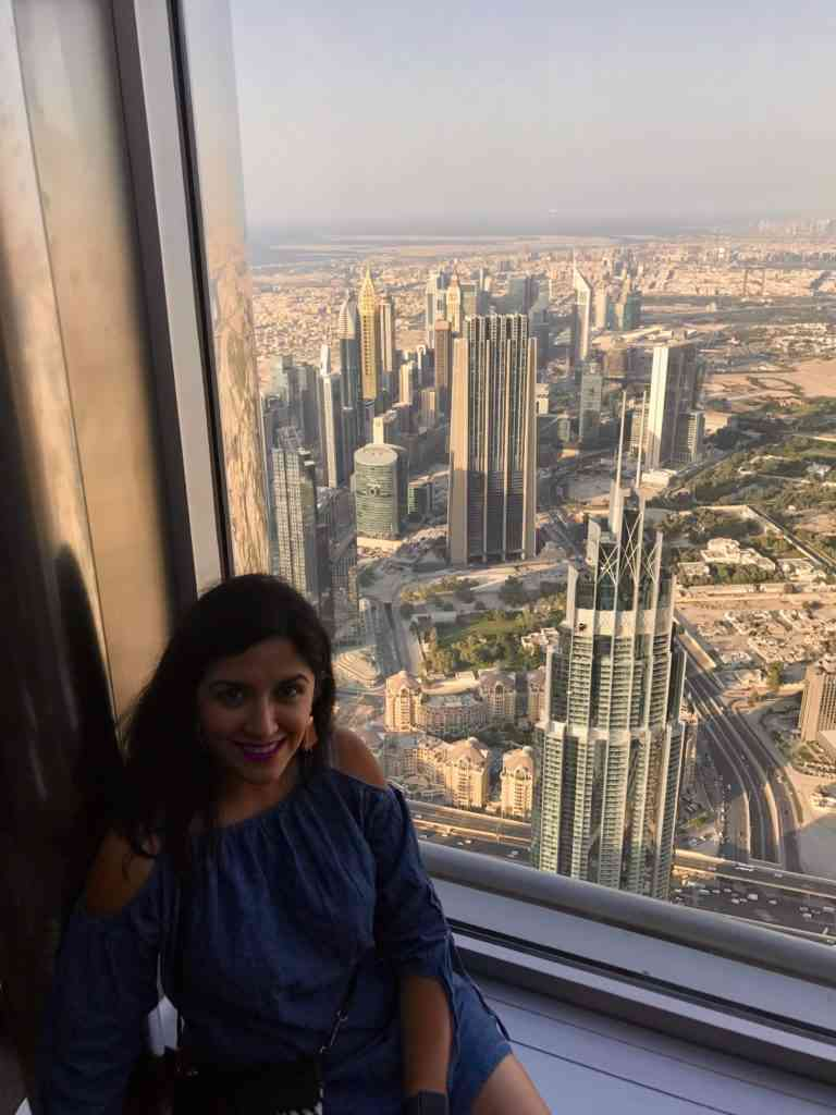 Amazing view from top of the world in Burj Khalifa