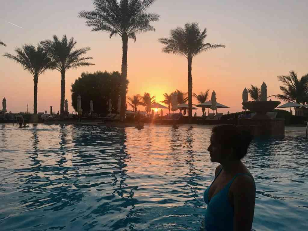 Another amazing sunset at Ajman Saray resort in the UAE