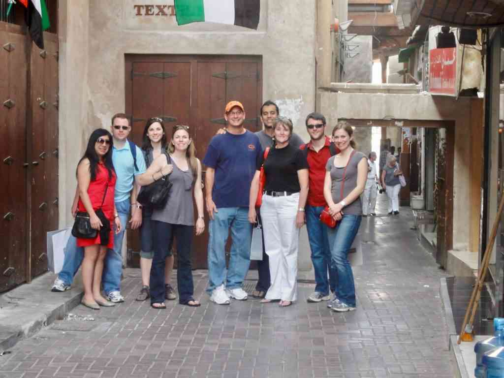 Hanging out in Old Dubai with friends prior to our wedding