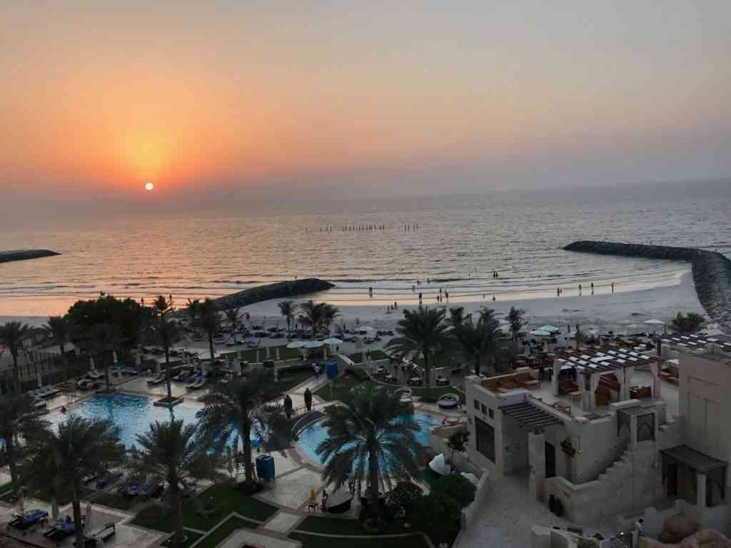Incredible view from our hotel at Ajman Saray Resort