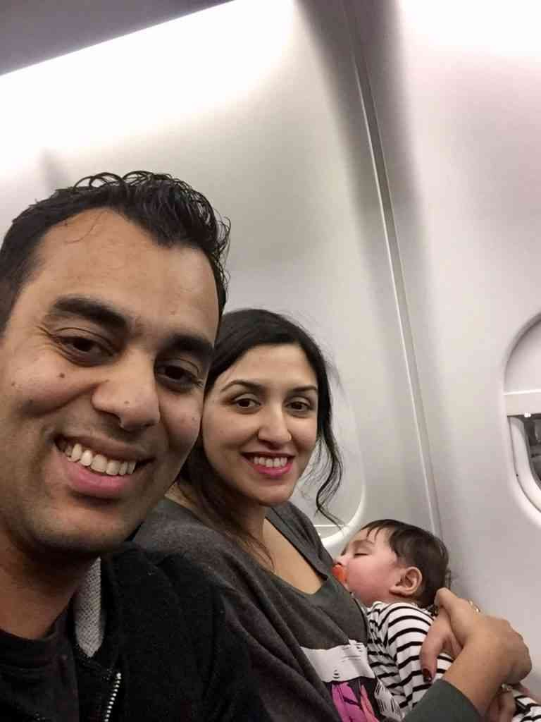 traveling with an infant -- Our first long international flight with Aarav