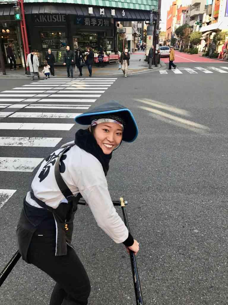 Rickshaw driver during Tokyo walking tour
