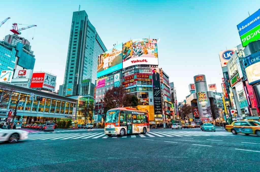 Shibuya in Tokyo with kids