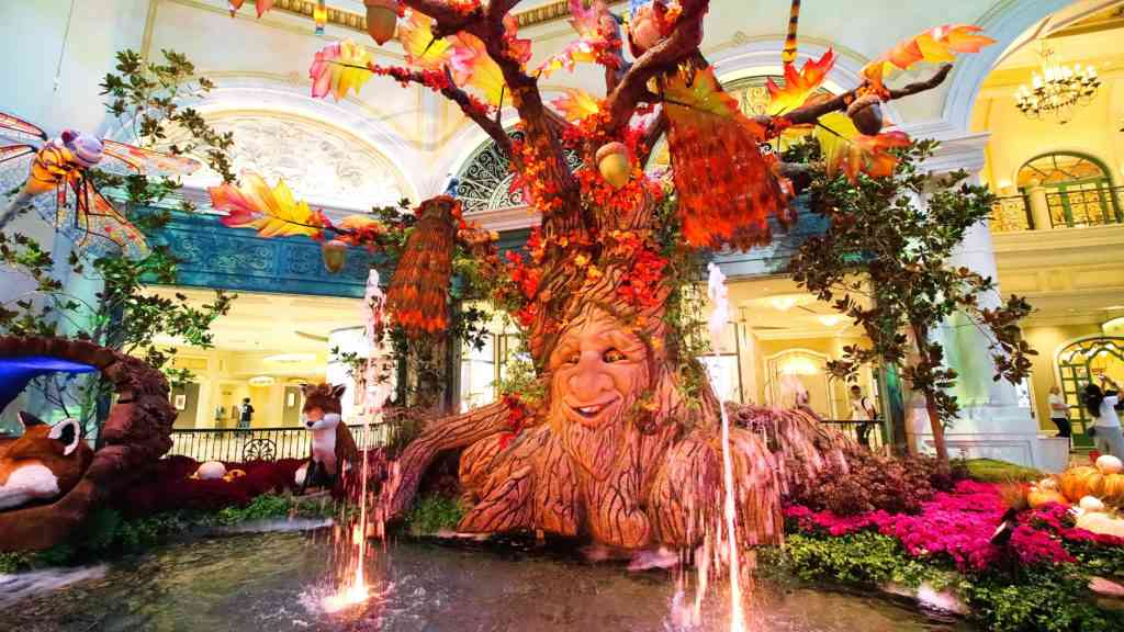 Fall season in Bellagio Hotel conservatory in Las Vegas
