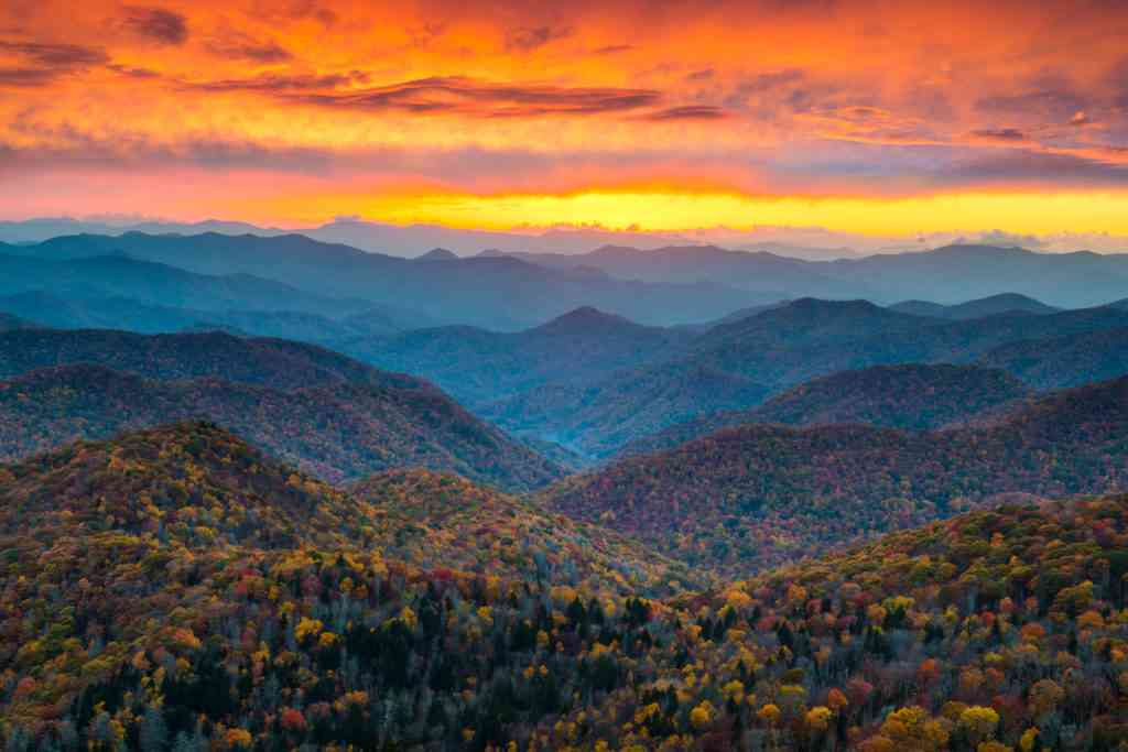 Great Smoky Mountains National Park during Thanksgiving