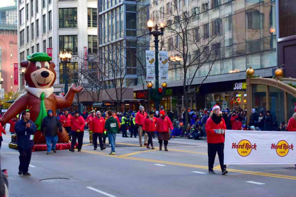 Chicago Thanksgiving Parade with Yogi Bear