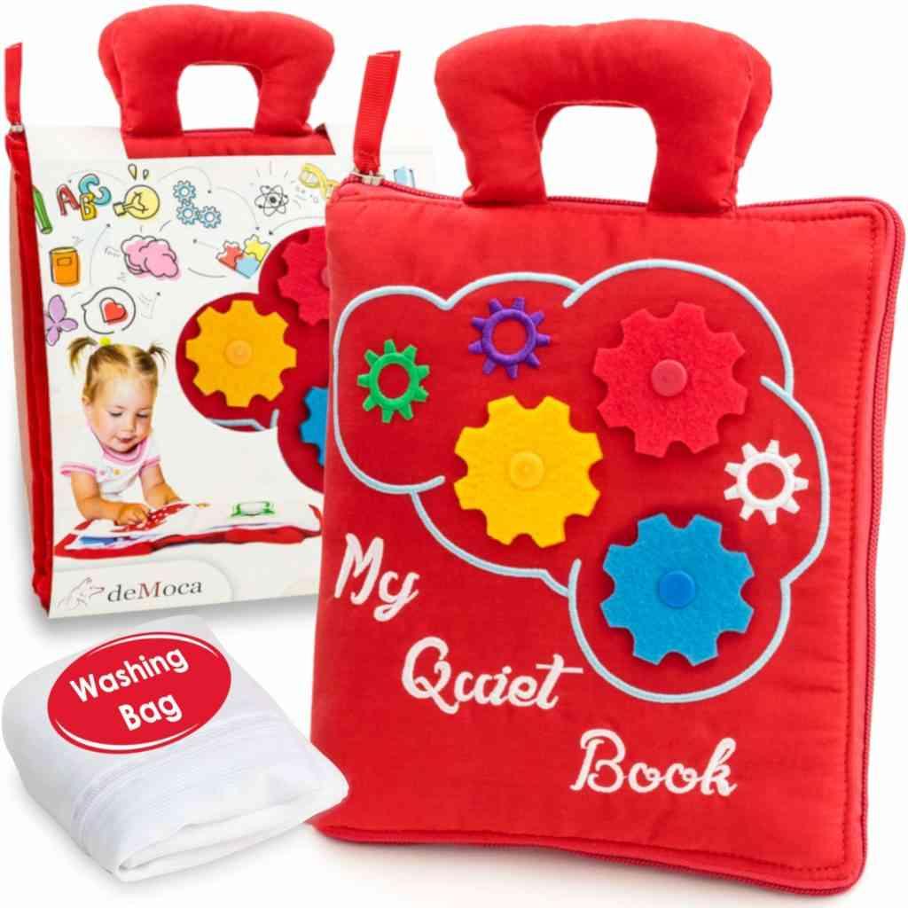 deMoca quiet book best travel gifts for kids