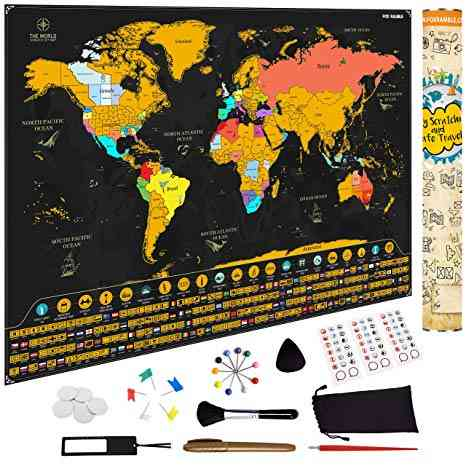 scratch off world map best travel gifts for kids