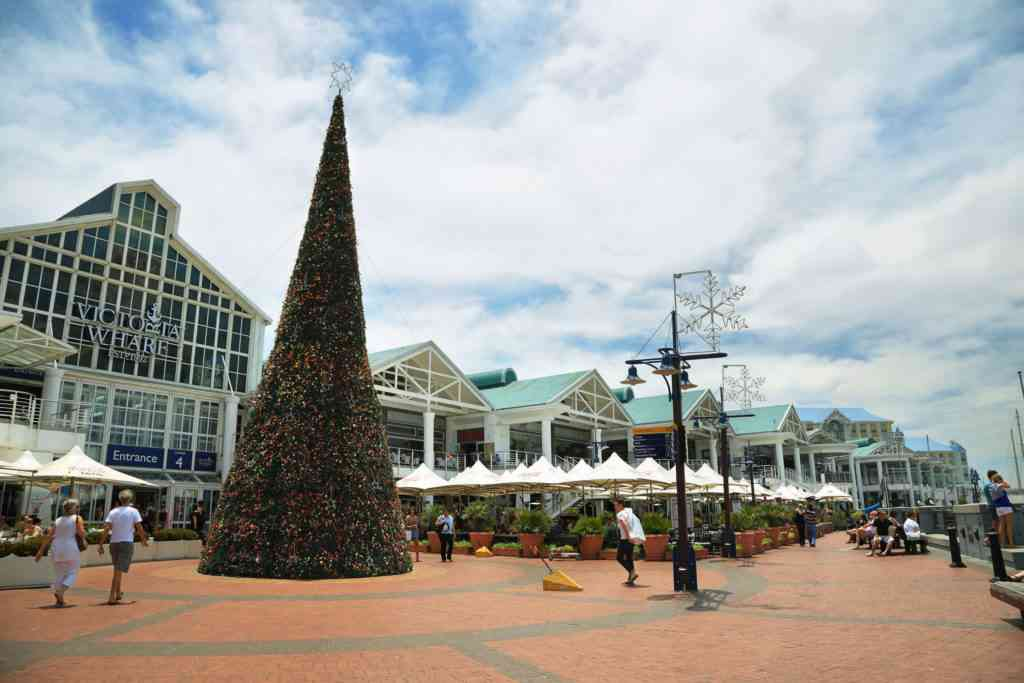 Christmas tree at  wharf in Cape Town, South Africa