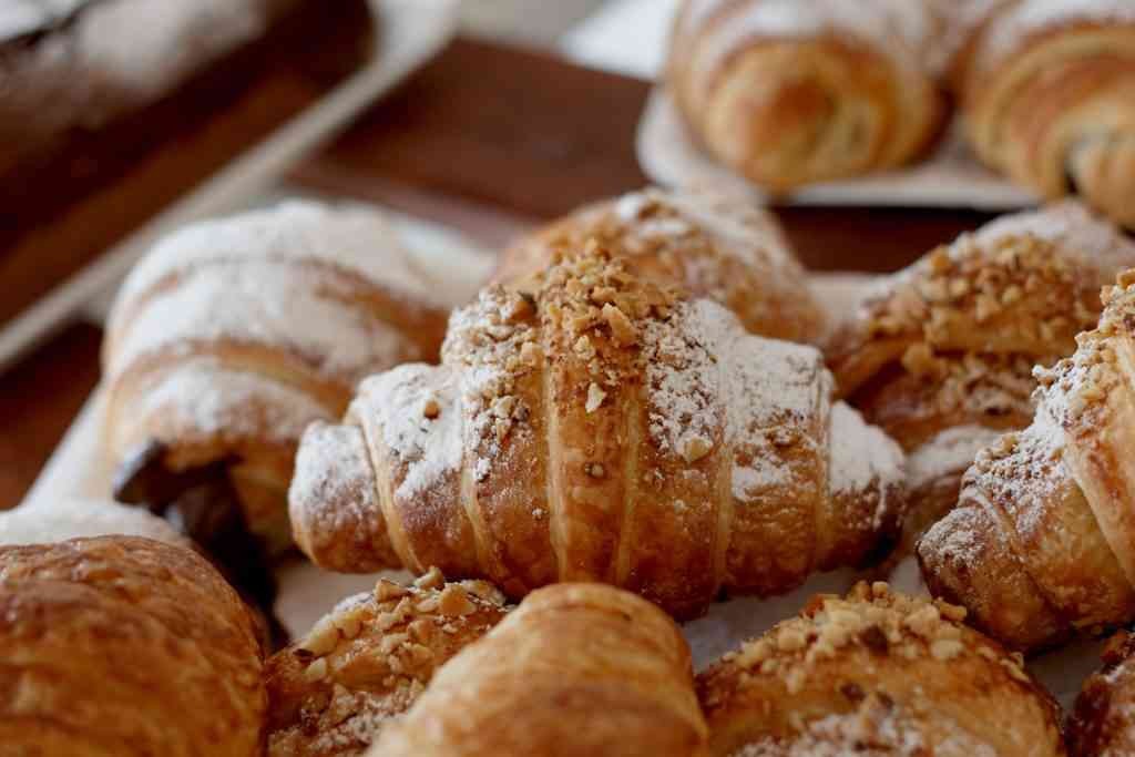 Delicious croissants from the TBB for breakfast