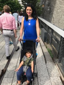 Enjoying time in New York in the gb pockit stroller