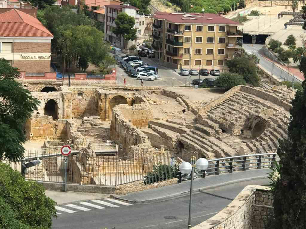 Ancient Roman Amphitheatre in Tarragona, Spain