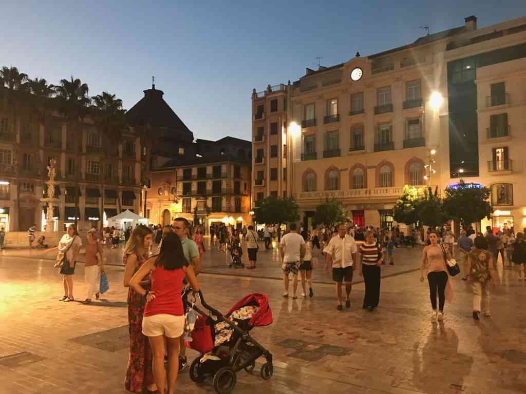 Beautiful Plaza de La Constiution in Malaga