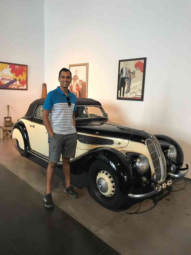 Enjoying the Automobile and car museum in Malaga