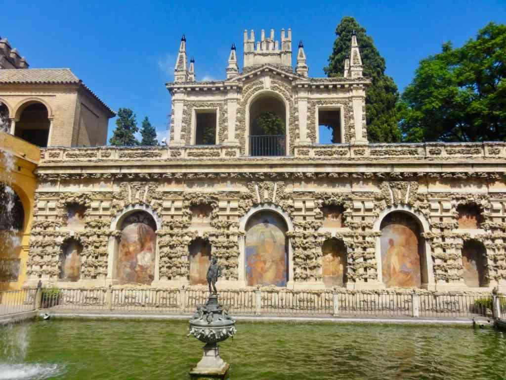Fountains in the Alcazar