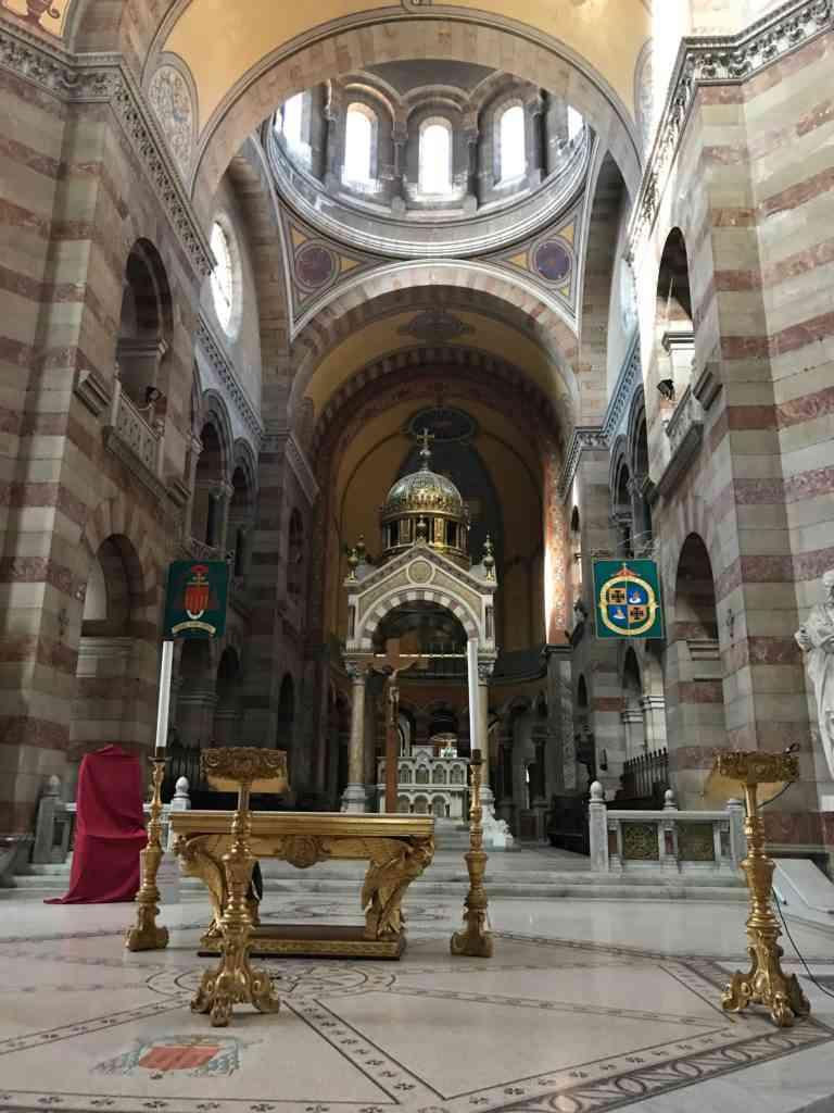 Interior of the Cathedrale de la Major in Marseille