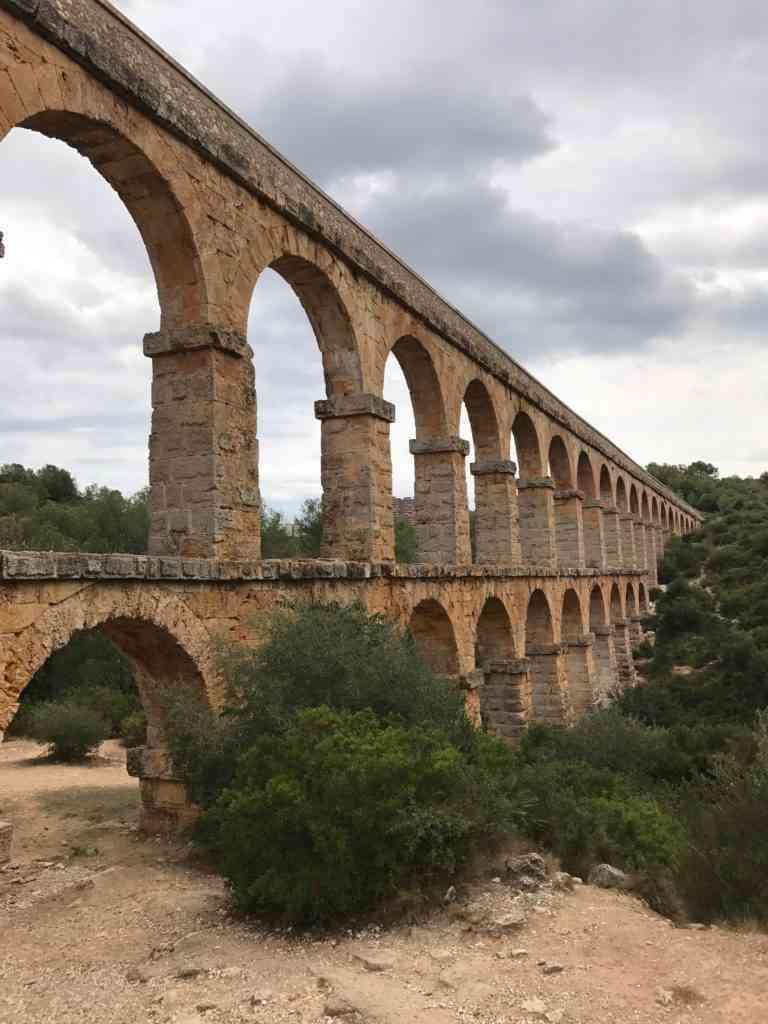The amazing Pont del Diable (Ancient Roman Aquaduct) in Tarragona, Spain