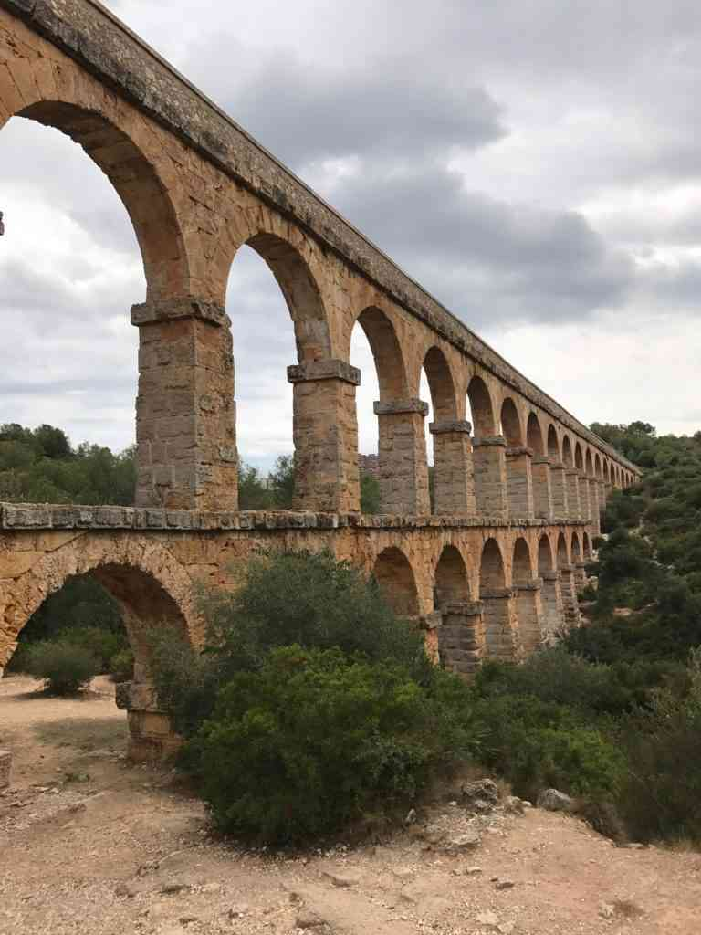 The ancient Roman aquaduct right outside of Tarragona