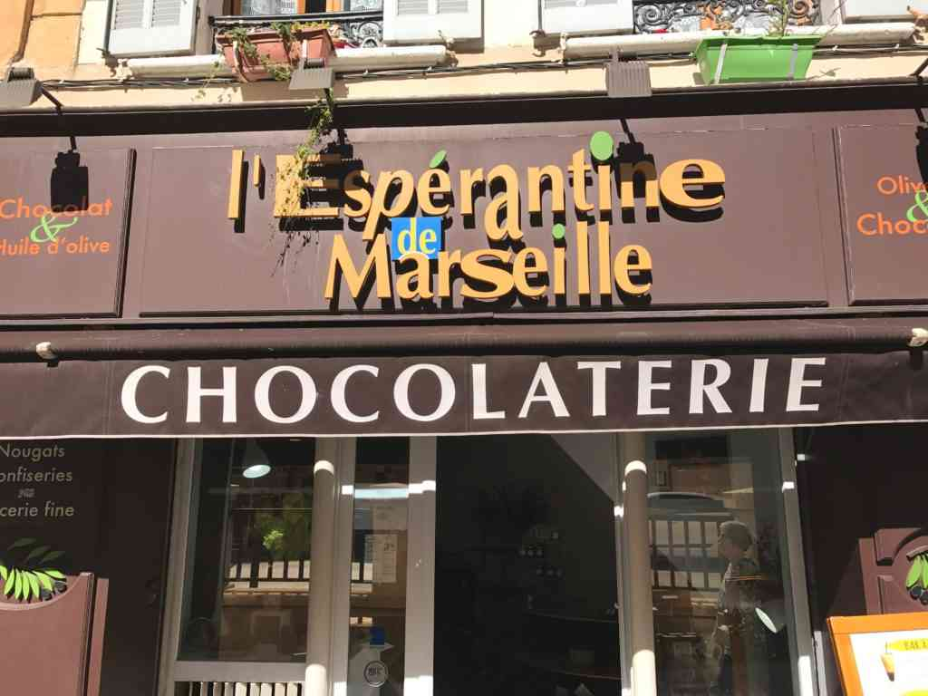 Trying an amazing chocolatarie in Marseille