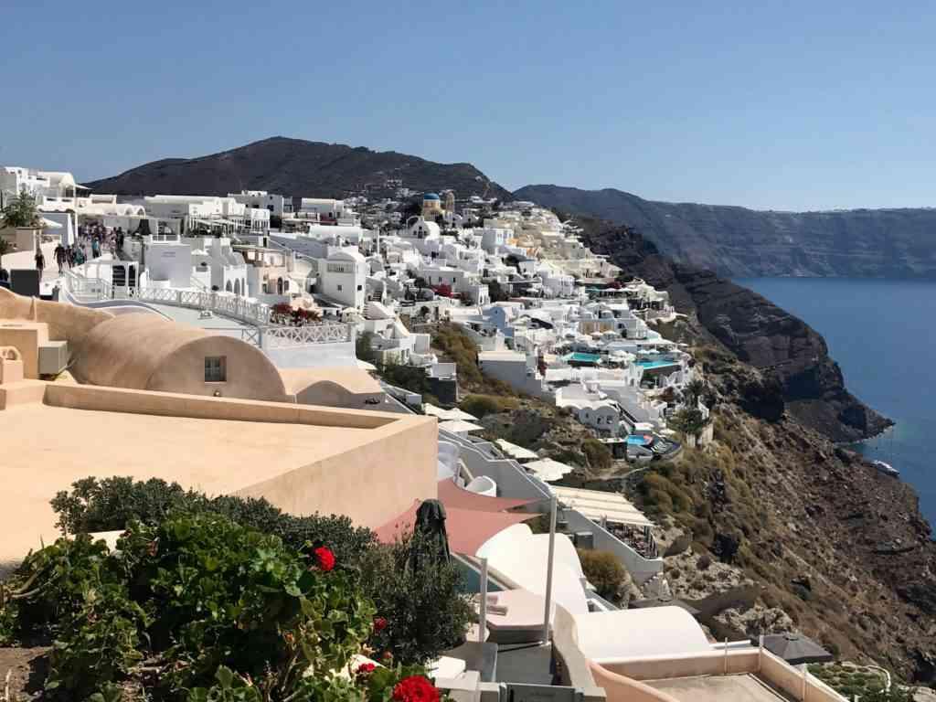 Beautiful view from Oia in Santorini