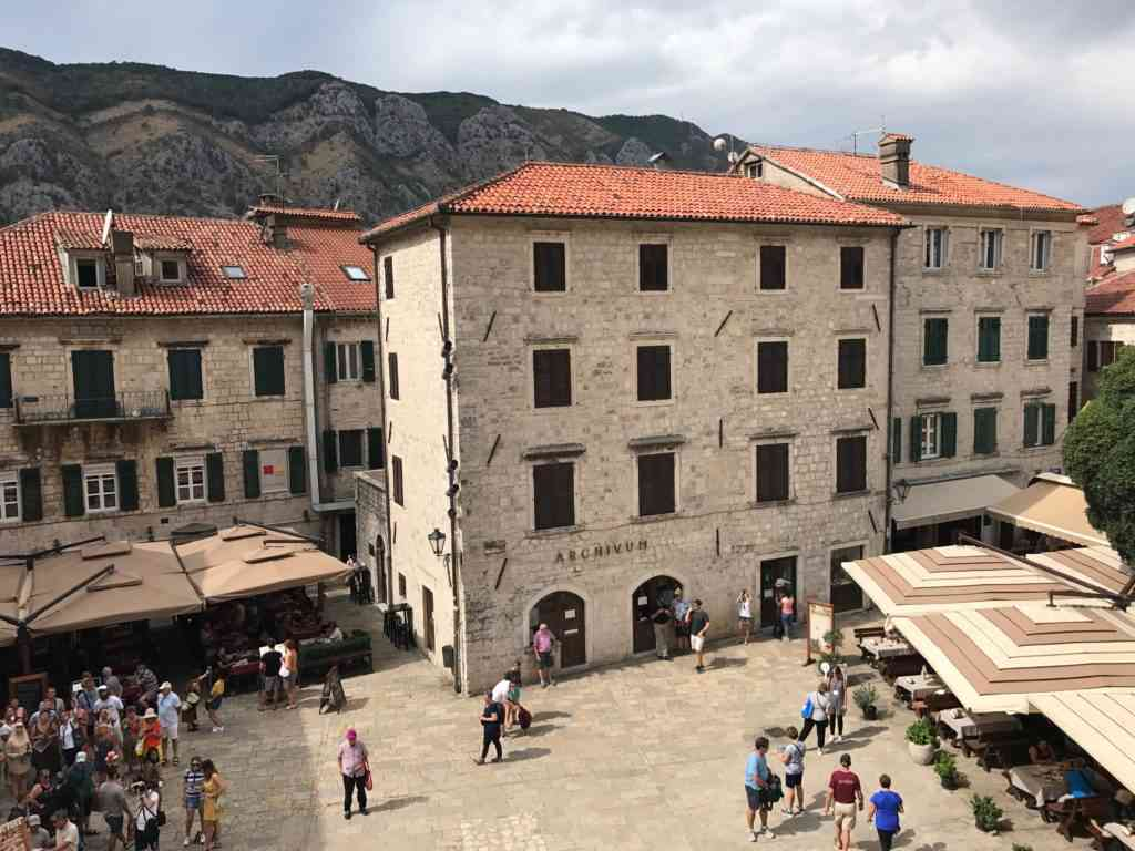 The Central Square in the Kotor Old City