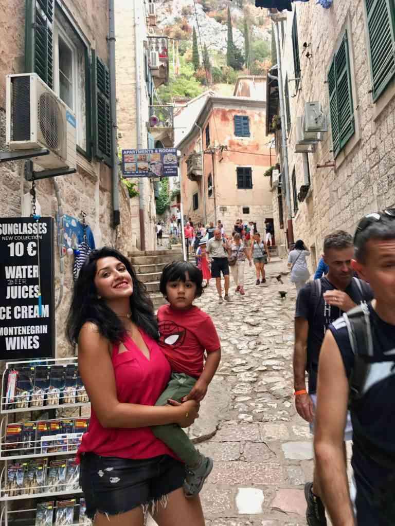 Enjoying medieval Kotor, Montenegro during our cruise stop