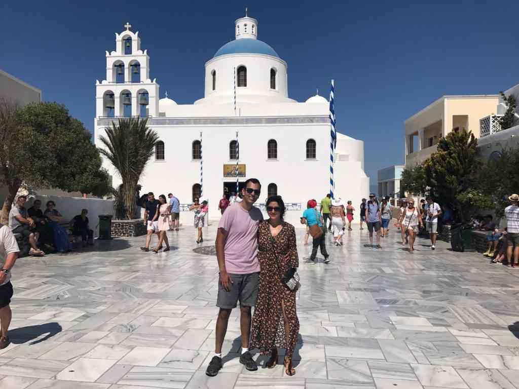 The incredible Church of Panagia in Oia, Santorini