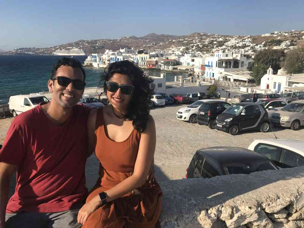 View of Mykonos from the Kato Milli