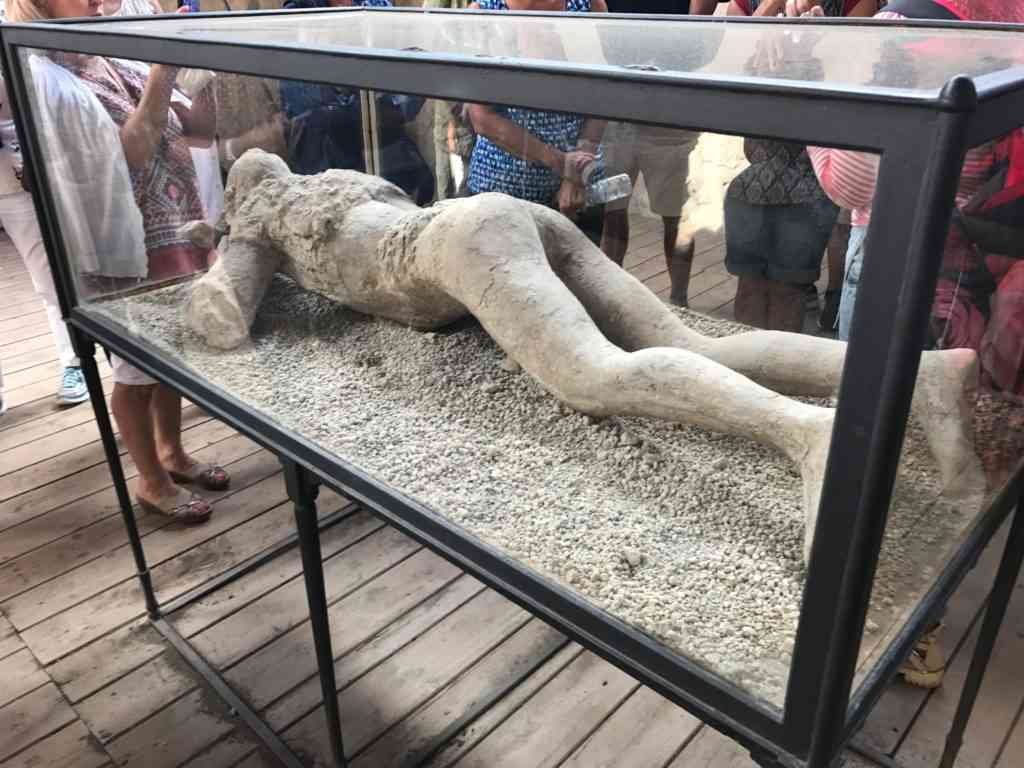 Plaster cast in Pompeii