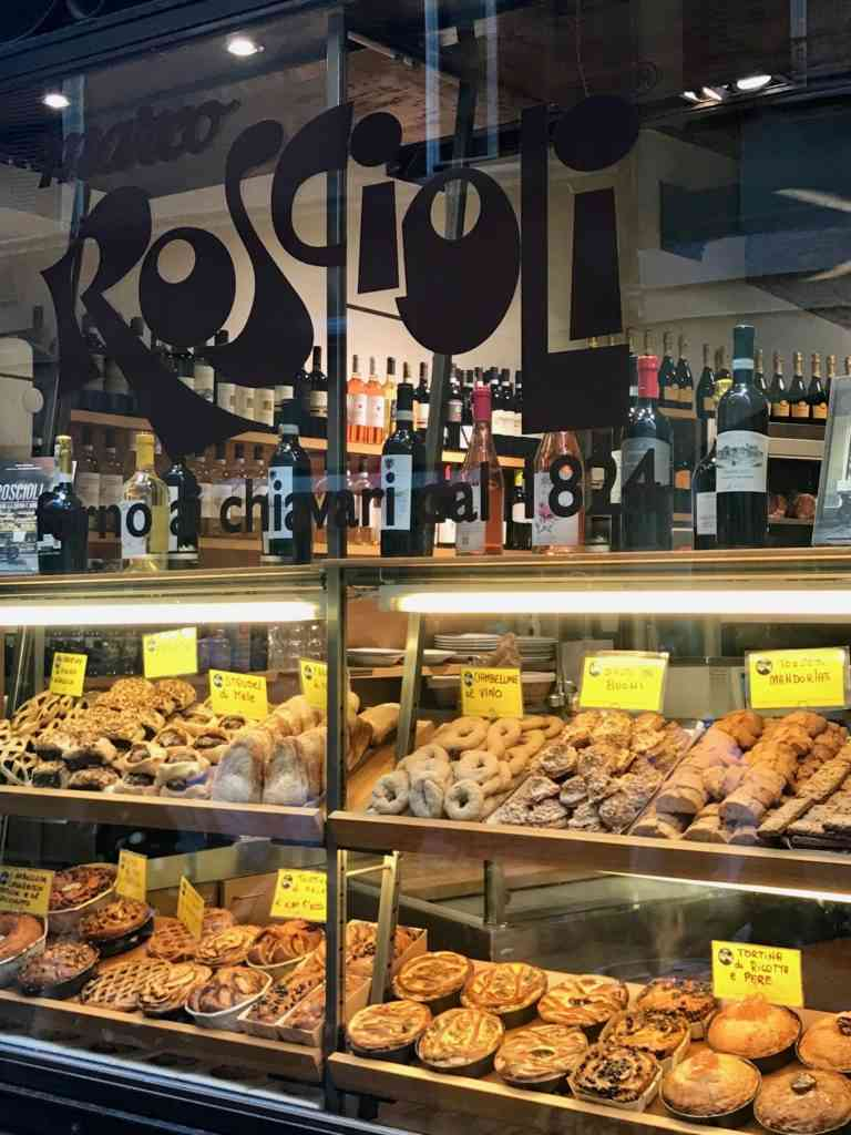 Display of amazing breads during our walking tour of Rome