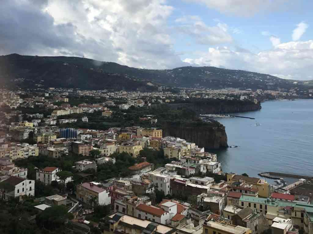 Incredible views of Campania on our way to the Amalfi coast