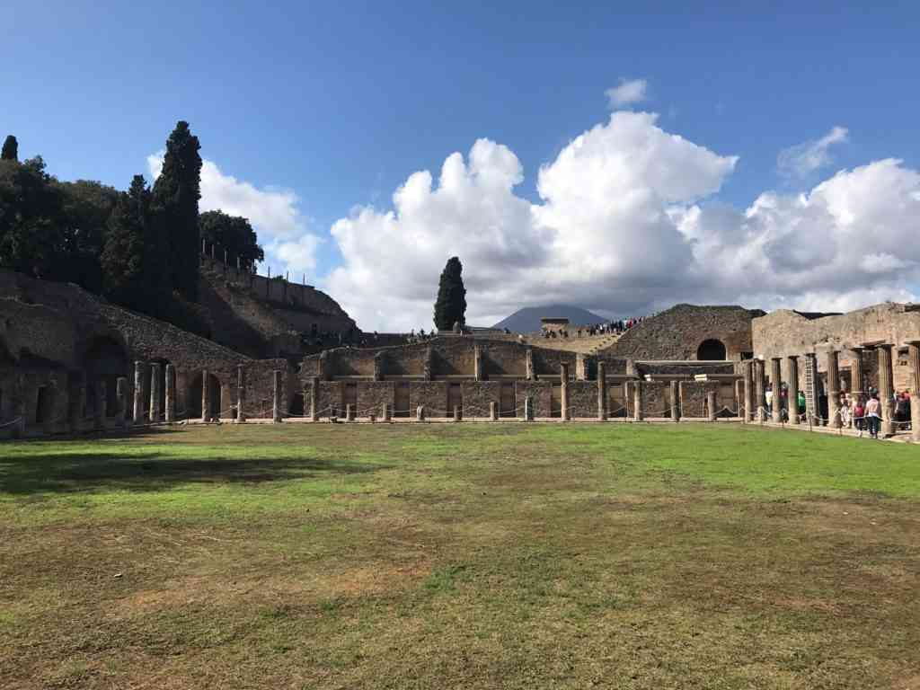 Ruins of a building in Pompeii