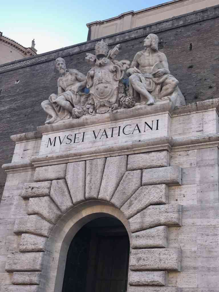 The entrance to the Vatican