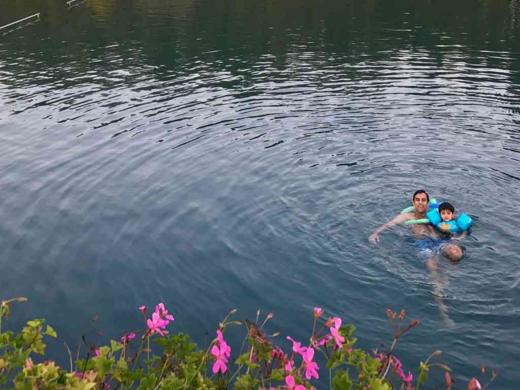 Enjoying the thermal lake of Heviz