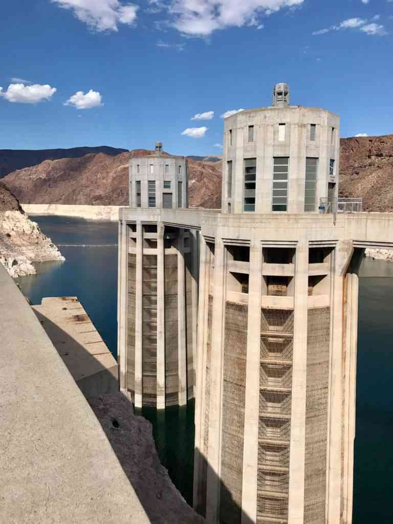 The Lake Mead side of Hoover Dam