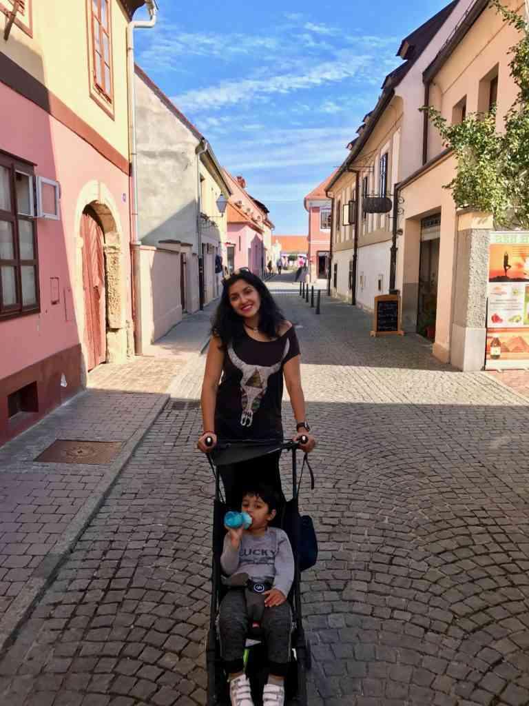 The beautiful charming and quaint streets of Varazdin