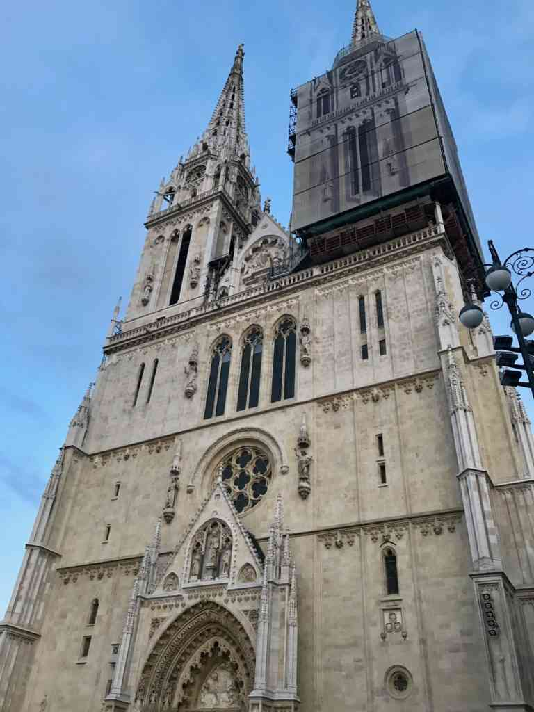 Zagreb Cathedral under renovation