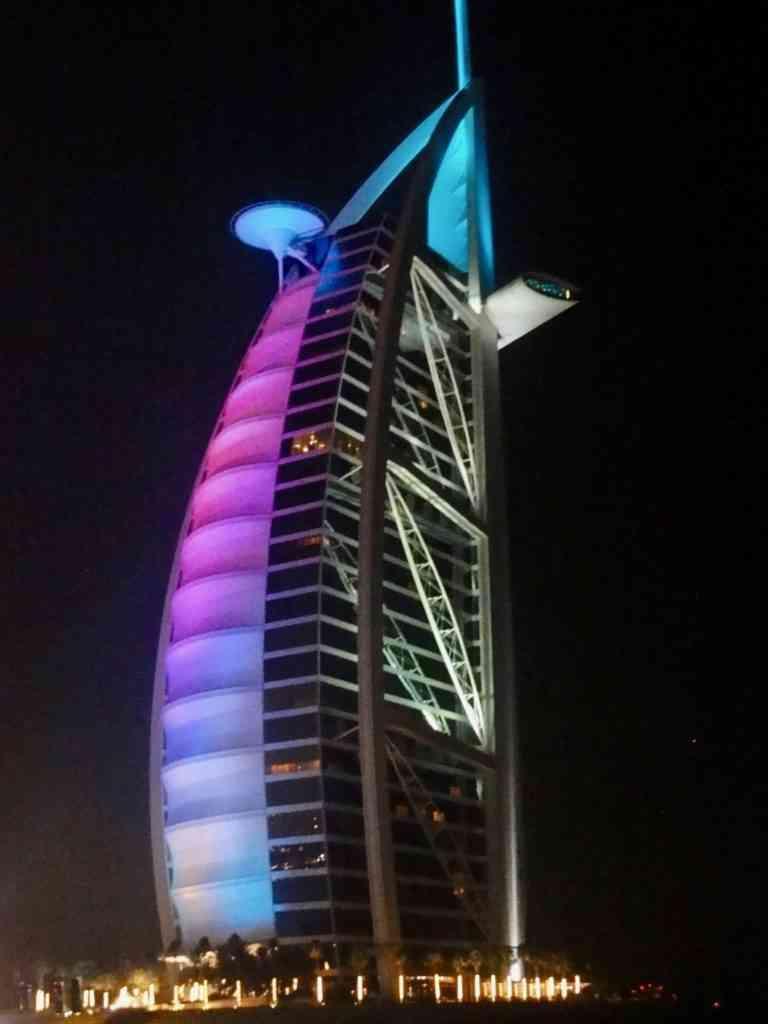 The Iconic Burj Al Arab At Night