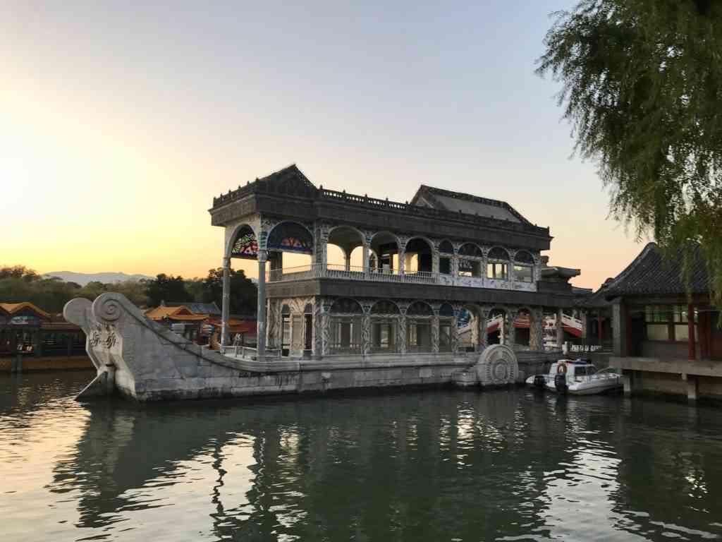 Beautiful Marble Boat At Summer Palace