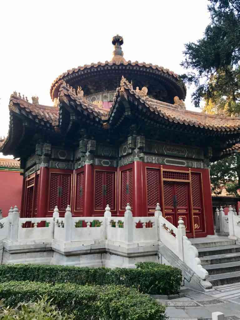 Beautiful building in The Palace Museum in Beijing