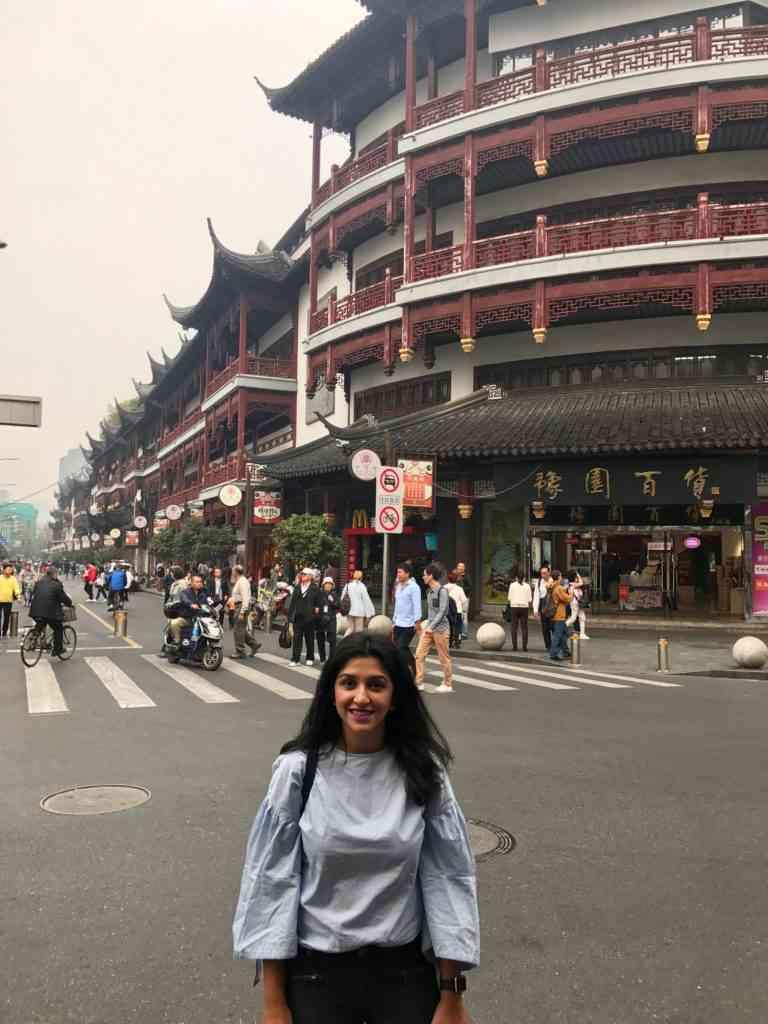 Natasha enjoying Old Shanghai