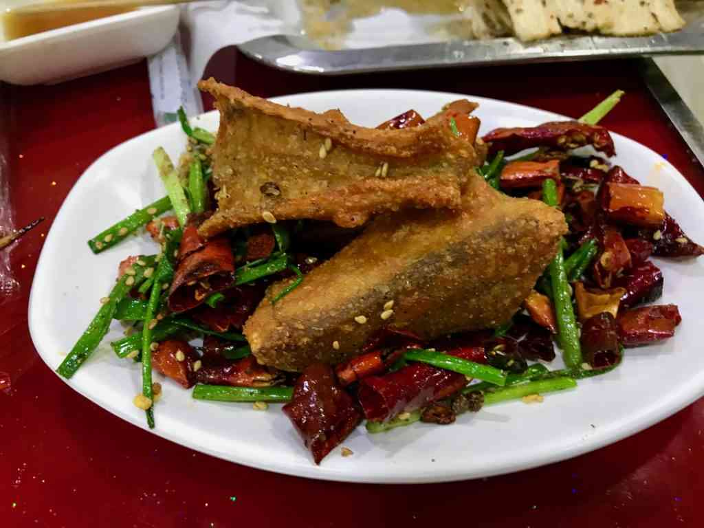 Trying snake for the first time on the Shanghai Food Tour!