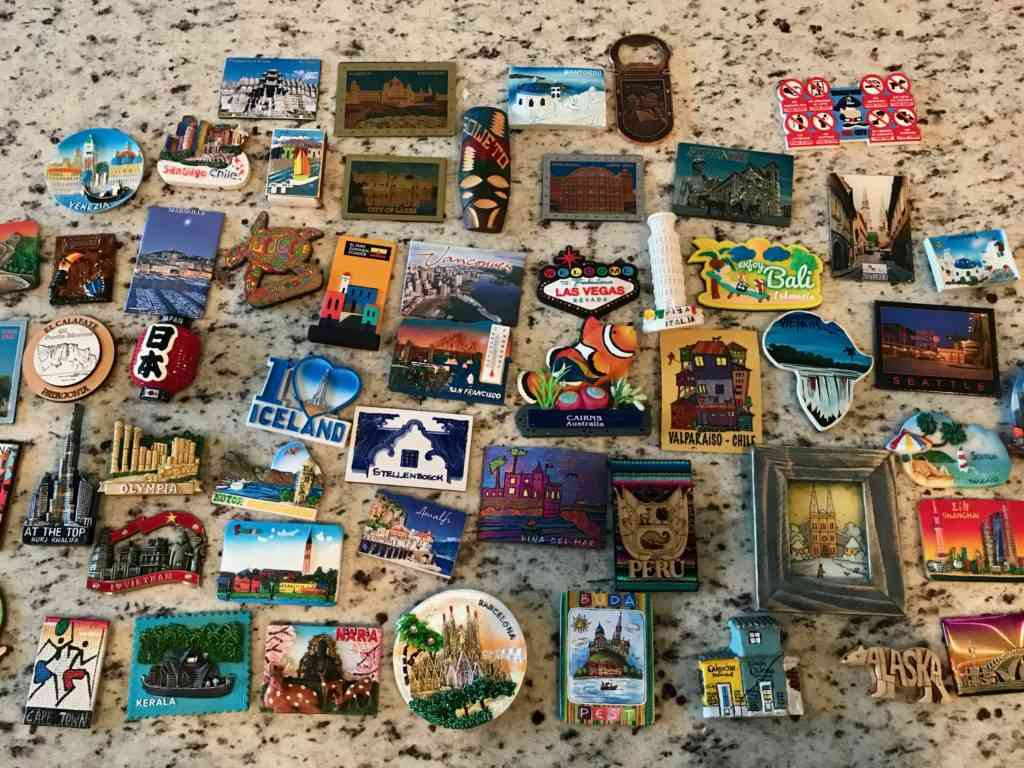 We collected magnets from our travels around the world