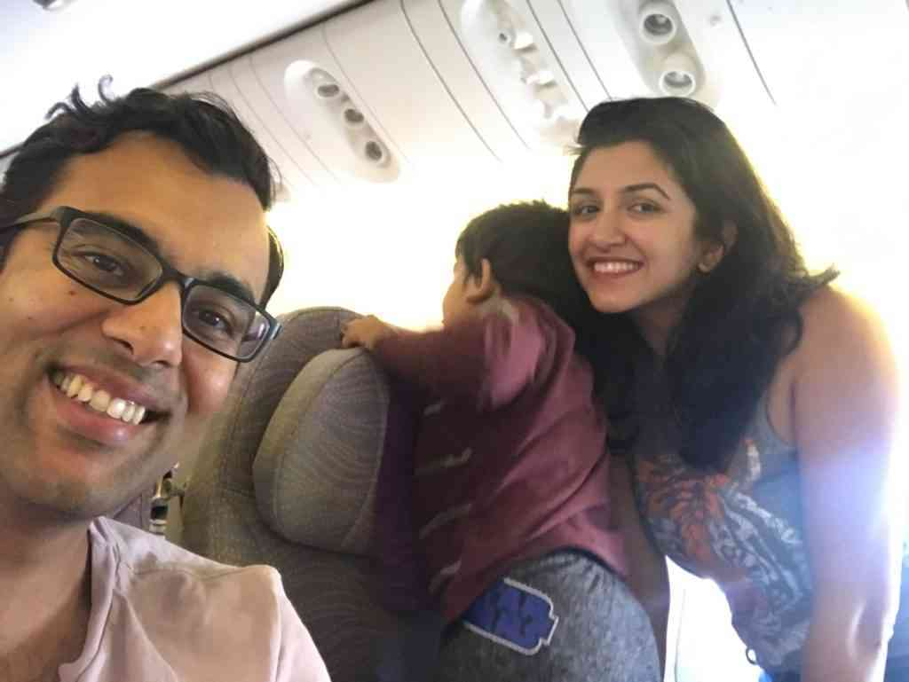 Aarav entertaining other passengers in the plane