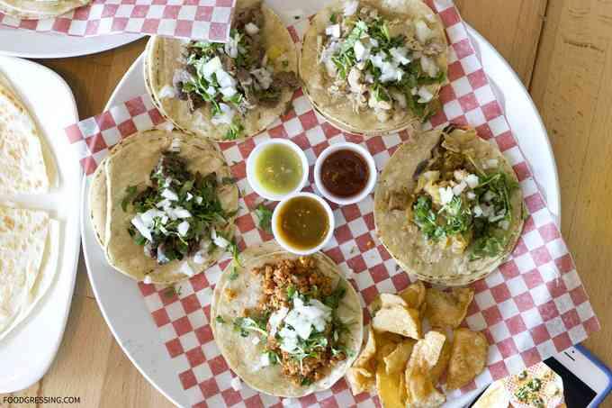 tacos at sal y limon in vancouver canada
