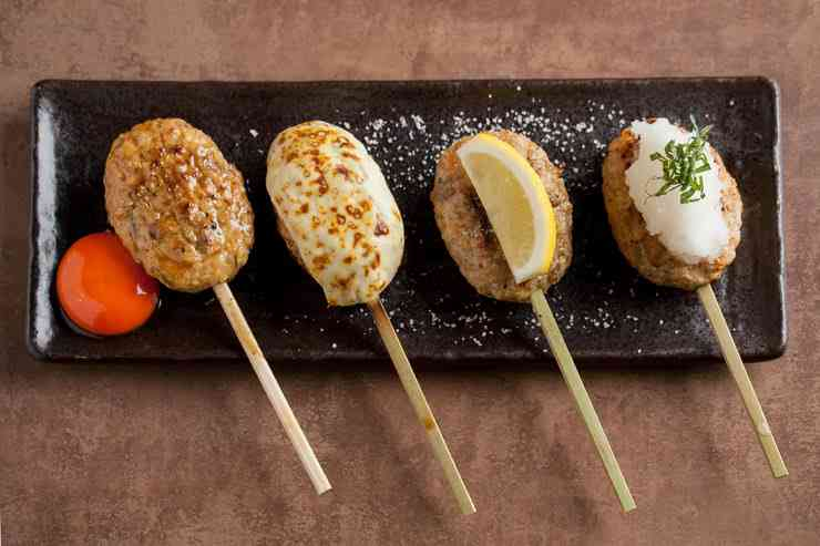 Some of the great chicken skewers you can have at Kyoto Yakitori Seisakusho