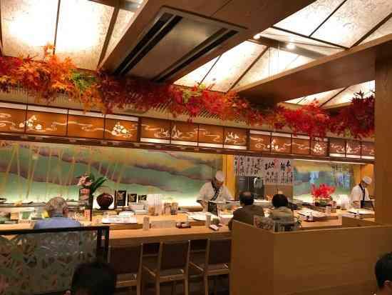 Ganko Sushi's sushi bar