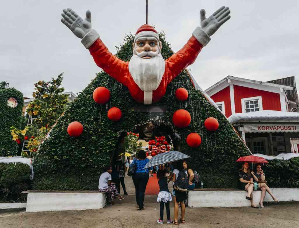 Santa Claus in Rio de Janiero, Brazil